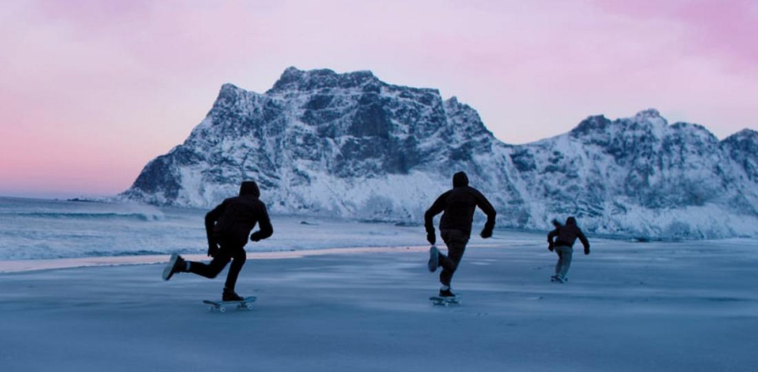 skate frozen sand 4k northbound video norway savagethrills savage thrills.