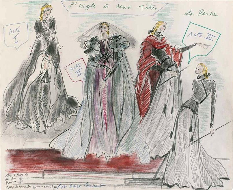Paris museum to show Yves Saint Laurent's sketches from his youth | Savage  Thrills